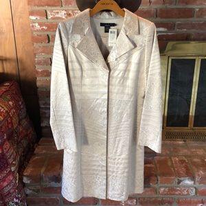 Arden B Luxe silk beige jacket